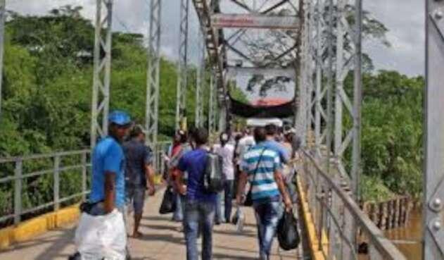 Puente la Unión  zona de frontera entre Colombia y Venezuela