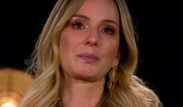 Claudia Bahamón llora al recordar a Jota Mario Valencia