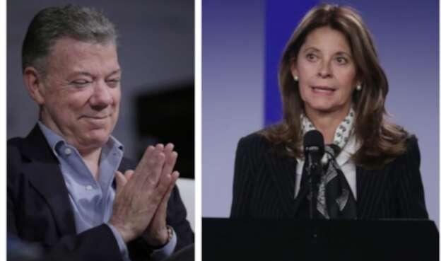 Juan Manuel Santos y Marta Lucía Ramírez