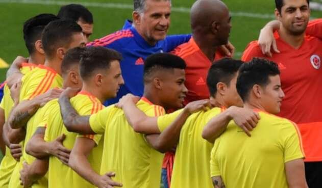 La Selección Colombia entrenando en Sao Paulo, el 28 de junio de 2019