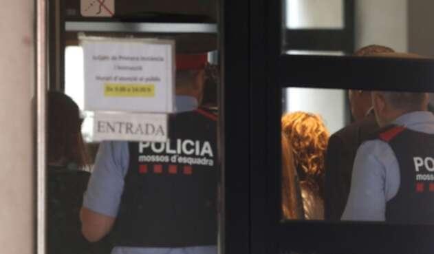 Shakira llegando a los juzgados de Esplugues de Llobregat, en inmediaciones de Barcelona