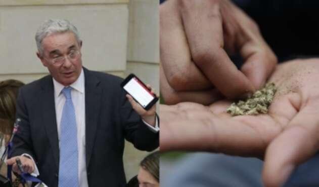 El senador Álvaro Uribe, contra la dosis mínima.