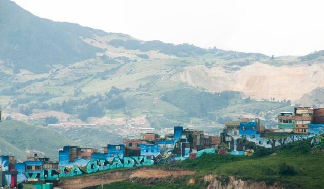 El barrio Villa Gladys, ubicado en la localidad Rafael Uribe Uribe, en Bogotá