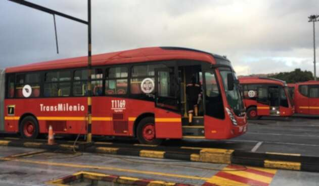 Nuevos buses de Transmilenio, en Bogotá