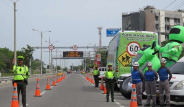 Policia Carretera Barranquilla