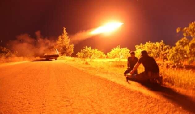 Lanzamiento de misiles (Imagen de referencia)