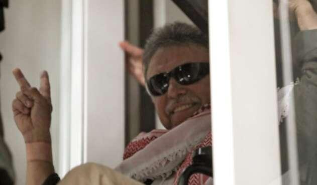 Jesús Santrich, poco después de recuperar su libertad, en Bogotá.