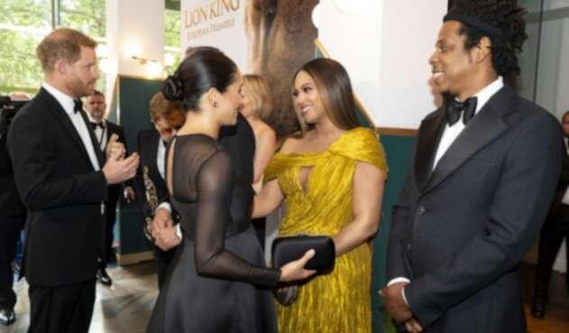 Duques de Sussex junto a Beyoncé