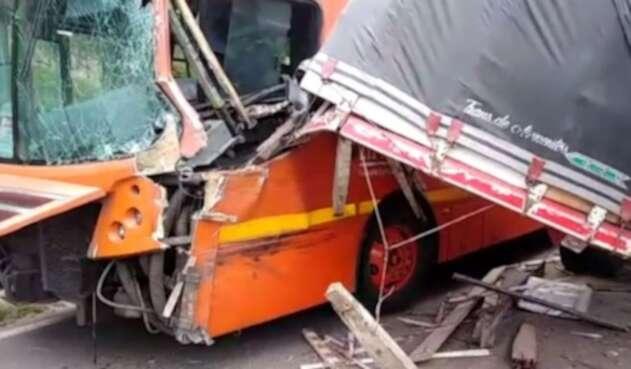 Accidente en la carrera Séptima con calle 183