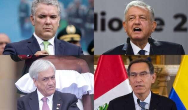 Ellos son los presidentes líderes de la Alianza del Pacífico.
