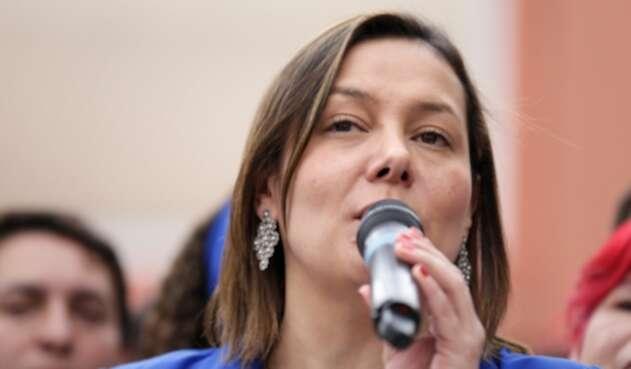 Ángela Garzón, excandidata a la Alcaldía de Bogotá