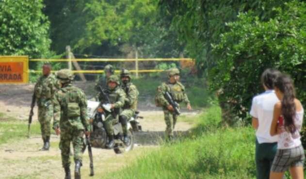Escalada terrorista en el departamento de Arauca, dos atentados y un bloqueo de vías