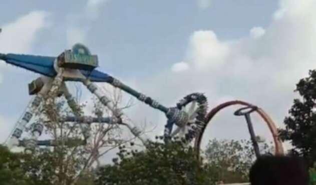 Accidente en parque de diversiones en India