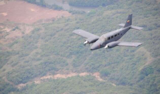 Uno de las aeronaves de Aviación del Ejército