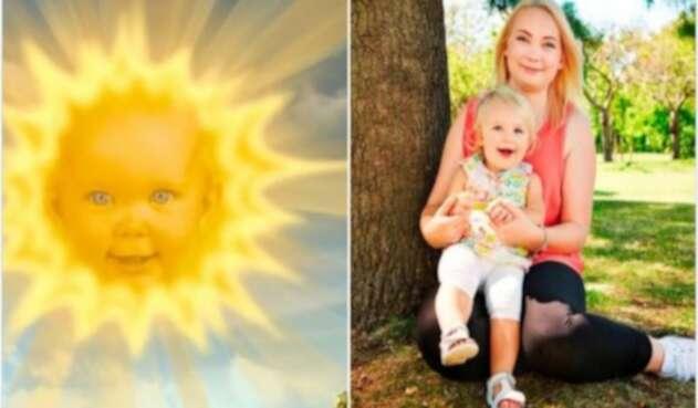 La verdad detrás de la foto de la bebé sol de los Teletubbies