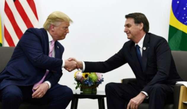 Donald Trump, presidente de EE. UU., y Jair Bolsonaro, presidente de Brasil.