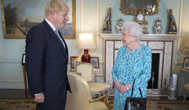 Boris Johnson se reunió con la Reina Isabel II