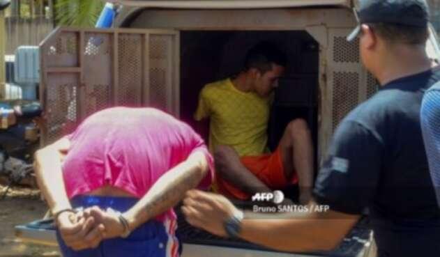 Presos cárcel en Altamira, Brasil