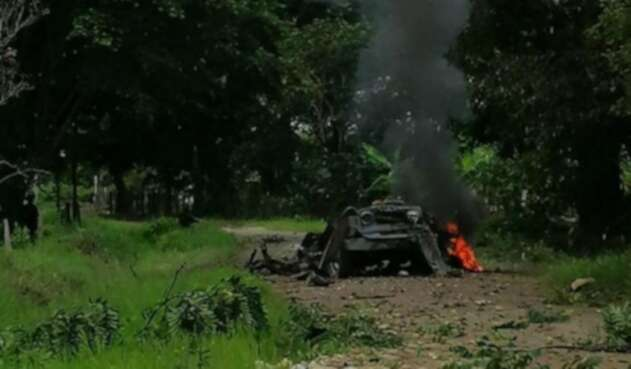 Carro bomba en Arauca