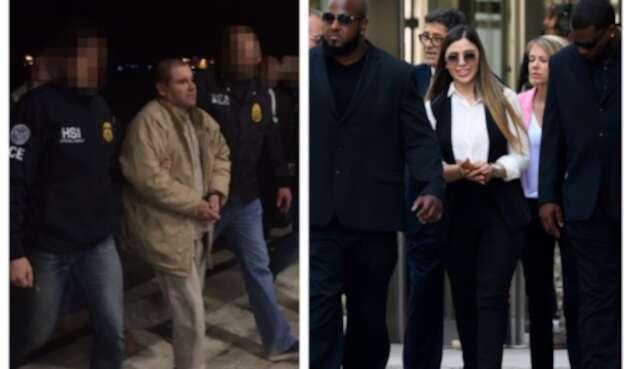 Chapo Guzmán y su esposa
