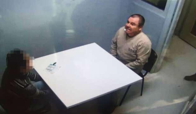 Chapo Guzmán antes de ser extraditado a Estados Unidos