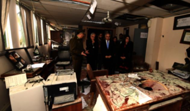 Presidente de Chile en Comisaría afectada por bomba en Huechuraba