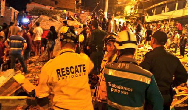 Colapso de vivienda en Medellín