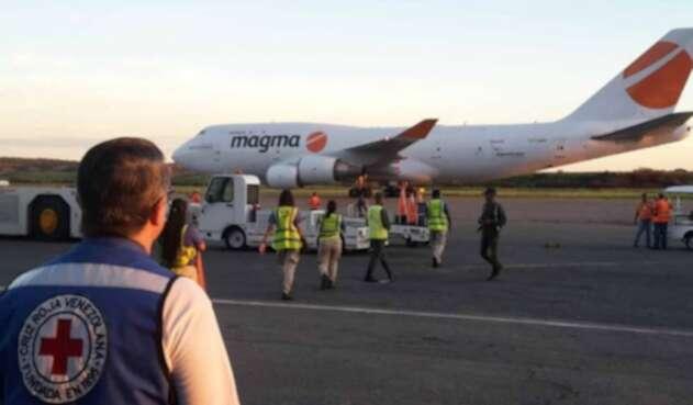Tercer cargamento de ayuda humanitaria llega a Venezuela desde Italia.
