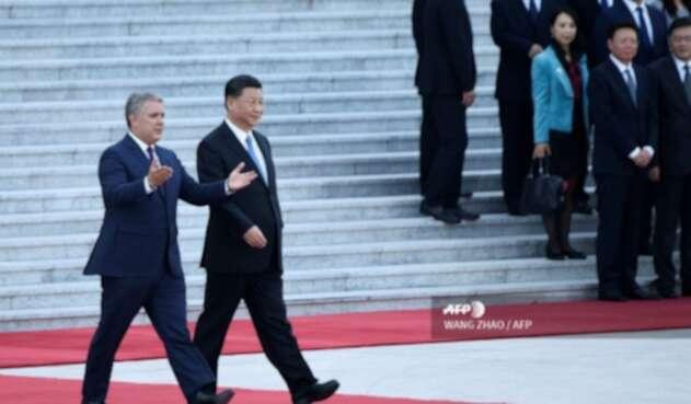 Presidentes Iván Duque y Xi Jinping