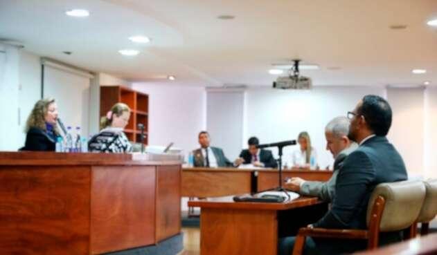 La audiencia de la Policía en la que fue destituido el capitán de la Policía Eduardo Andrés Merchán Prieto