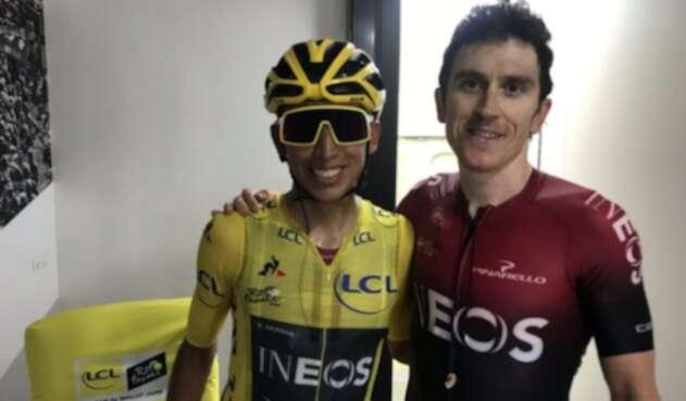 Egan Bernal y Geraint Thomas, integrantes del Ines campeones del Tour de Francia 2019 y 2018, respectivamente