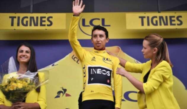 Egan Bernal, líder del Tour de Francia.