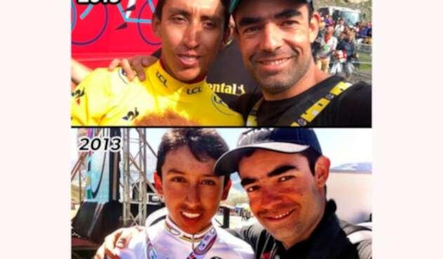 Egan Bernal y Pablo Mazuera, su mentor