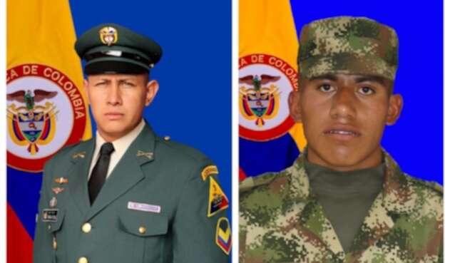 Jonathan Verdugo Vargas y Alex Irua Tutalcha, fallecidos en el ataque.