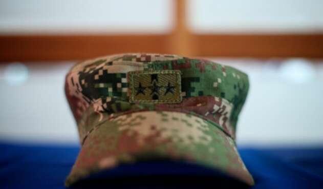 Foto de referencia de una gorra del Ejército Nacional