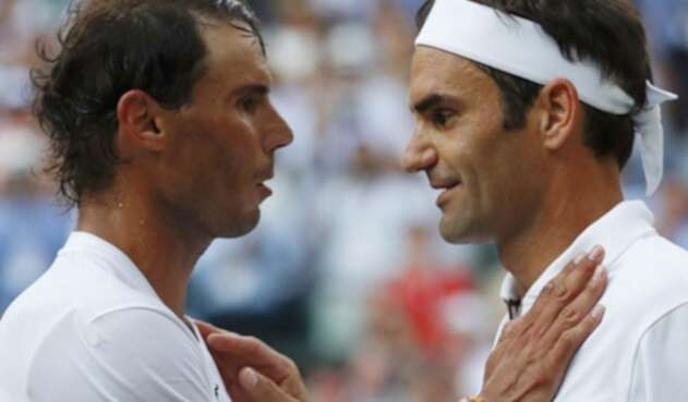 Roger Federer y Rafael Nadal.
