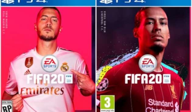 Eden Hazard y Virgil van Dijk en Fifa 2020