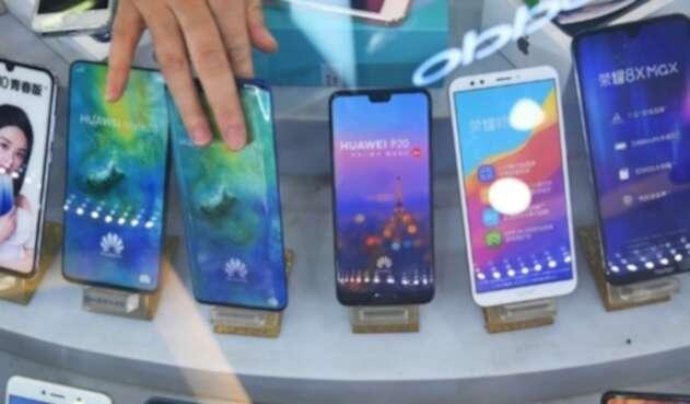 Los teléfonos Huawei.