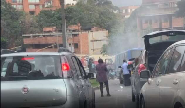 Incendio de bus SITP