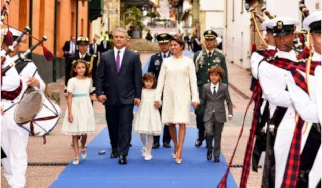 Iván Duque y su familia