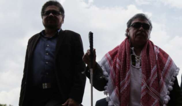 Iván Márquez y Jesús Santrich, integrantes del partido Farc