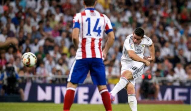 James Rodríguez ante Atlético de Madrid, el 13 de septiembre de 2014