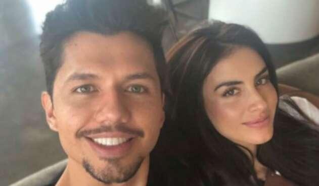 Jessica Cediel y su novio