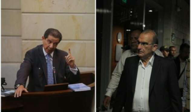 José Félix Lafaurie y Humberto de la Calle, presidente de Fedegán y ex jefe negociador del gobierno ante las Farc, respectivamente