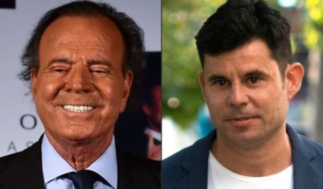 Julio Iglesias y su hijo Javier Santos