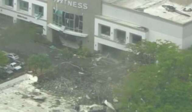 El gimnasio LA Fitness, en Florida, tras la explosión
