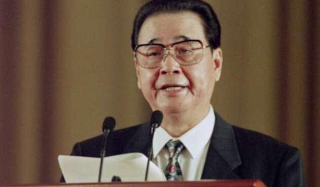 Li Peng, ex primer ministro chino.