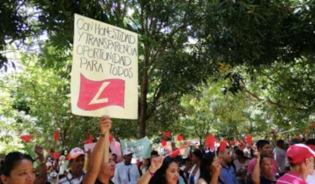 Liberales en Curumaní, Cesar protestan contra la dirección nacional del Partido