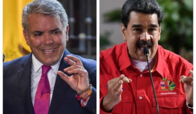 Presidentes Iván Duque y Nicolás Maduro
