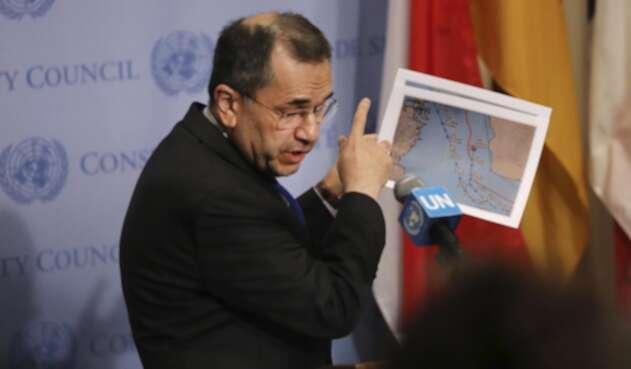 Majid Takht Ravanchi, embajador de Teherán ante la ONU.